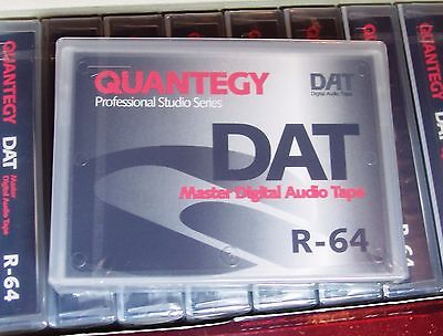 QUANTEGY DAT R 64 SEALED DIGITAL AUDIO BLANK RECORDING TAPE R64.