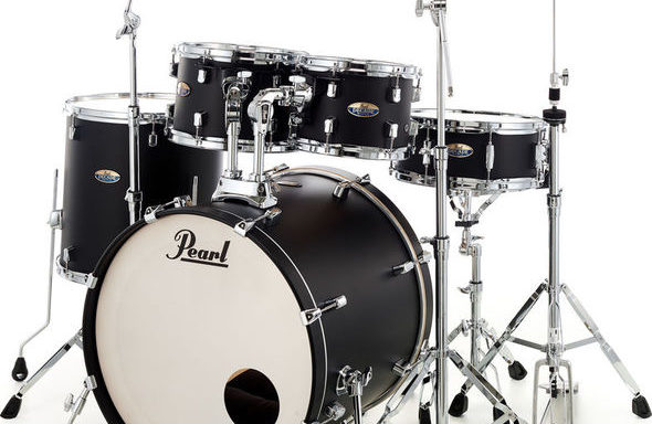 Pearl Decade Maple, Satin Black Burst